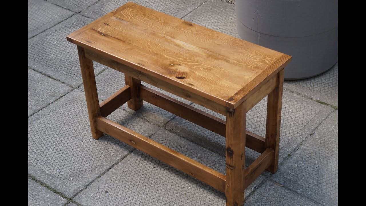 Smalle Tafel Small Table Made From Reclaimed Wood Youtube