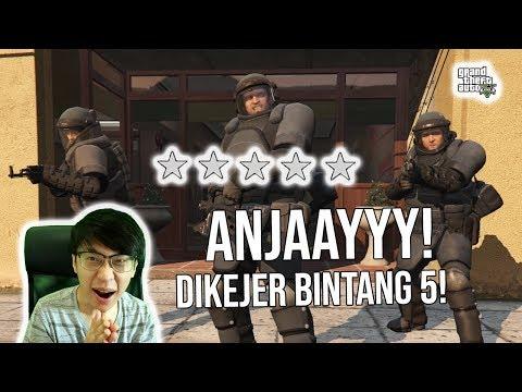 ANJAAYY! Dikejer POLISI BINTANG 5! HAJAR TERUSS! - GTA 5 #36