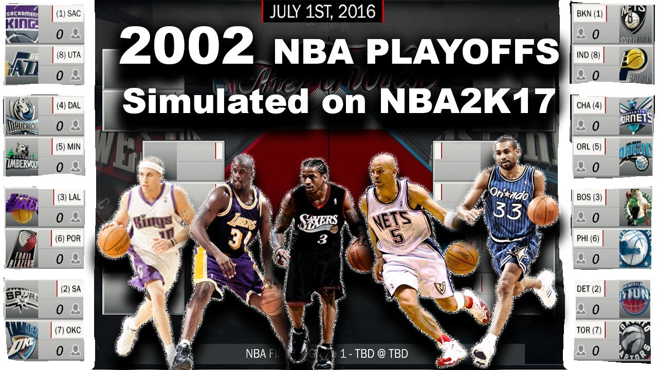2002 Nba Playoffs Simulated In Nba2k17 Youtube