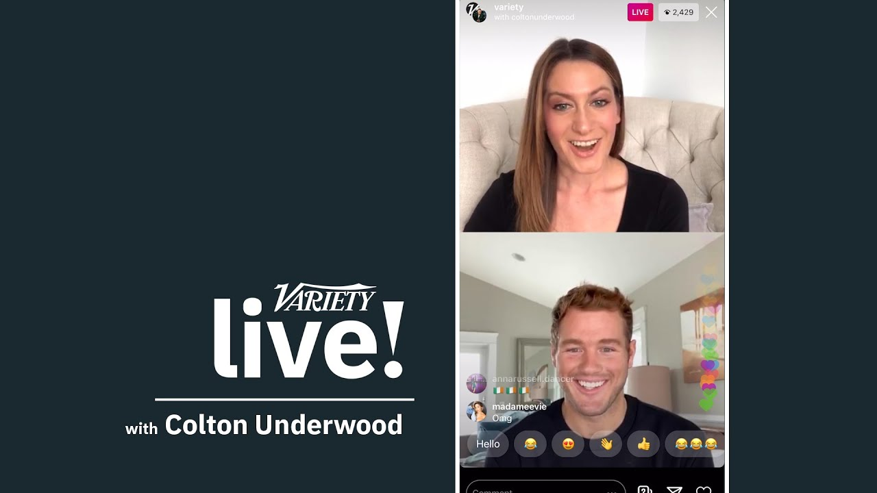 'The Bachelor' Star Colton Underwood Opens Up About Covid-19 Diagnosis on Variety Live