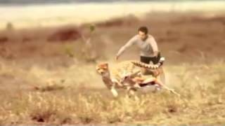 Repeat youtube video Skechers Man vs Cheetah Commercial TV Advertisement for Go Run 2 Running Shoes at Super Bowl 2013