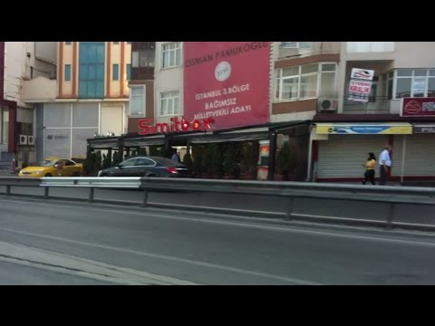 View of Istanbul Streets, European Side in Turkey