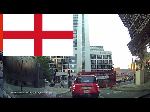 Driving In London Long Time Lapse (thru London Bridge, Tower Bridge)