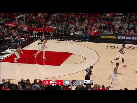 1st Quarter, One Box Video: Portland Trail Blazers vs. Atlanta Hawks