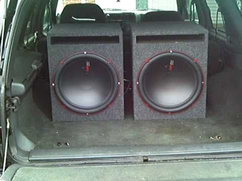 "2 15"" audiopipe subs 95 blazer - YouTube"