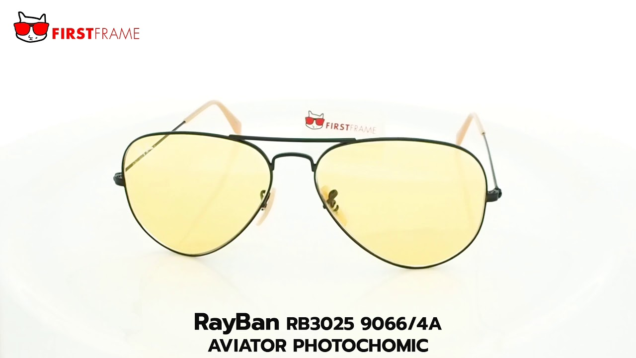 09ef51f49 RayBan RB3025 9066/4A AVIATOR PHOTOCHOMIC by FIRST FRAME