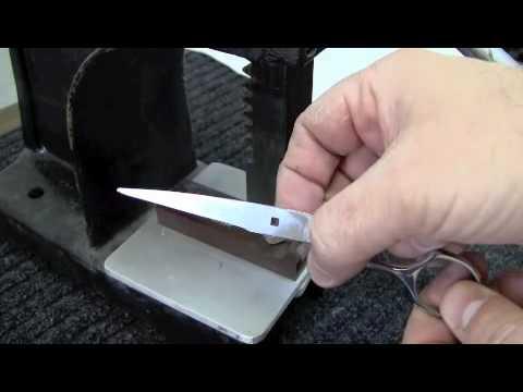 Scissors Sharpening Class: Reset Damaged Shear