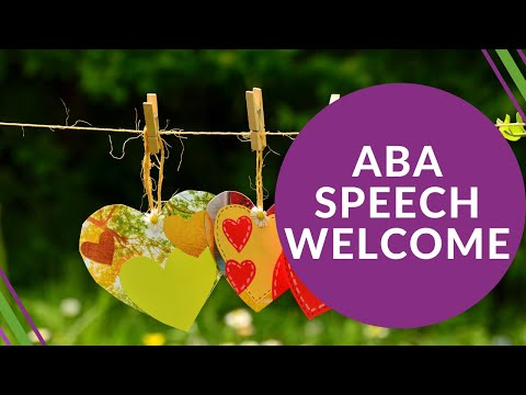 Introduction video for ABA SPEECH