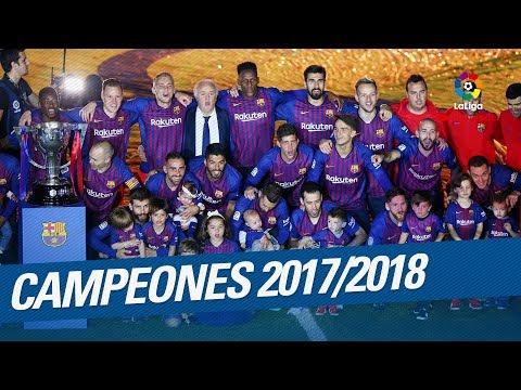 FC Barcelona - Campeón LaLiga 2017/2018