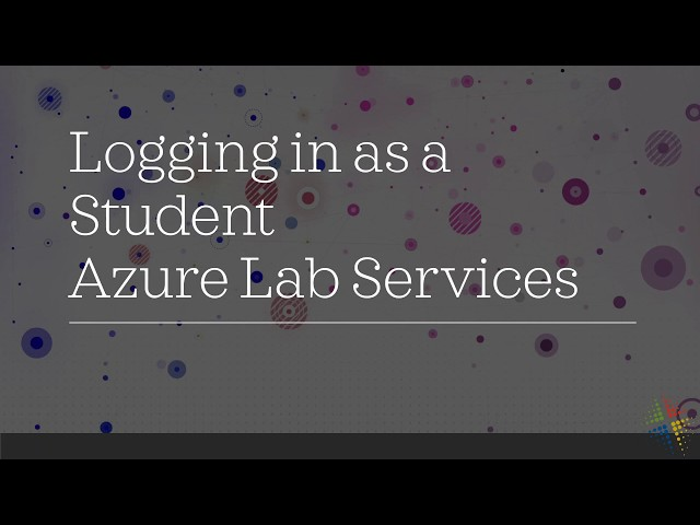 Logging in as a Student to Azure Lab Services