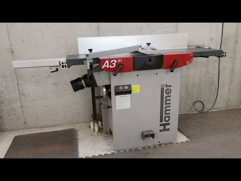 Hammer A3 31 Jointer Planer Combination Machine Review - YouTube