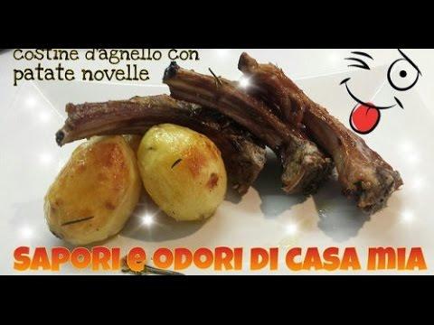 ricetta del giorno Costine di agnello alla brace,Recipe of the day Lamb chops on the grill