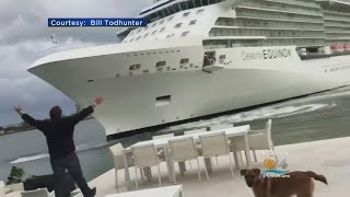 Repeat youtube video Couple Recalls Close Encounter With Cruise Ship: 'This Boat Is Coming To The House!'