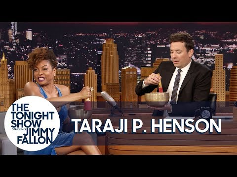 Taraji P. Henson Teaches Jimmy to Meditate with Tibetan Singing Bowls