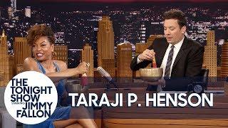 Taraji P. Henson Teaches Jimmy to Meditate with Tibetan Singing Bowls