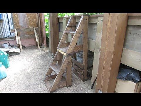 Как сделать стул стремянку своими руками