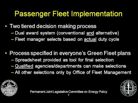 111212 Alabama Green Fleet Life Cycle Cost Procurement Subco