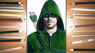 Speed Drawing: Green Arrow - Stephen Amell   Jasmina Susak