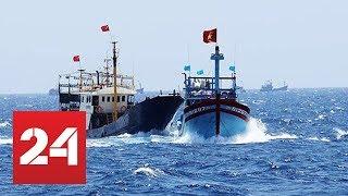 Cận cảnh Kiểm ngư Việt Nam đuổi tàu cá Trung Quốc hoạt động trái phép