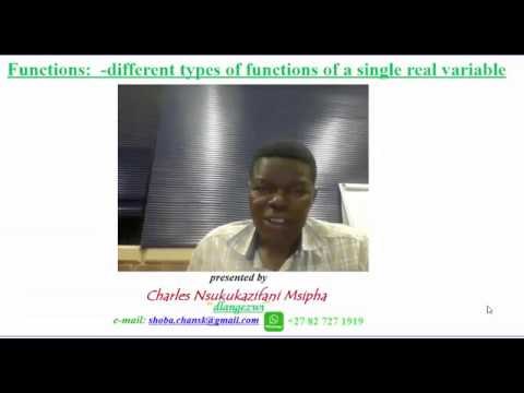 Introduction to functions for non Mathematics major - Part 2.2  revision of polynomial functions