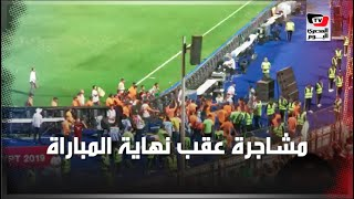 مشاجرة بين لاعب جزائري وأحد أفراد الأمن عقب تتويج الجزائر ببطولة أمم أفريقيا