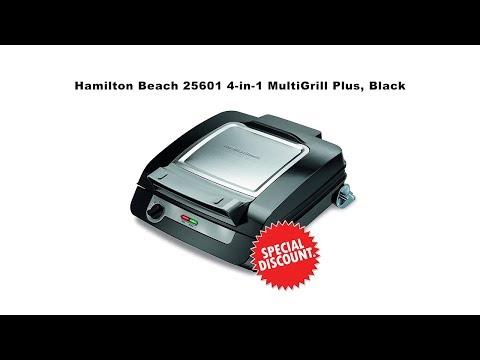 Hamilton Beach 25601 4-in-1 MultiGrill Plus, Black