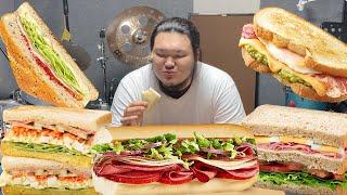샌드위치 3단 먹방