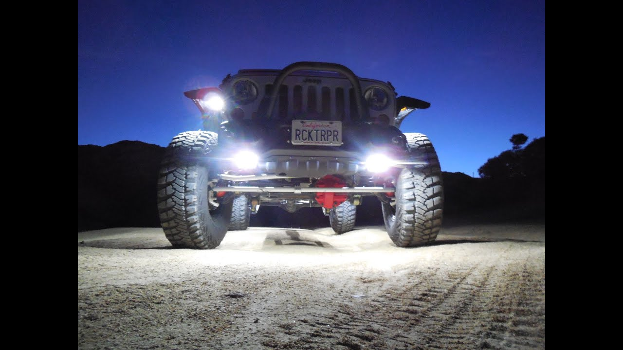 how to install lux lighting systems led rock lights on jeep wrangler rocktrooper  [ 1280 x 720 Pixel ]