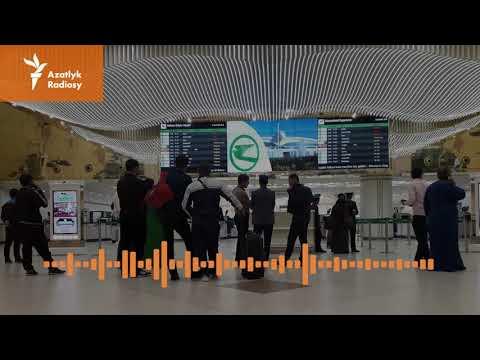 Aşgabadyň Aeroportunda ýolagçylardan 'para Soralýar'