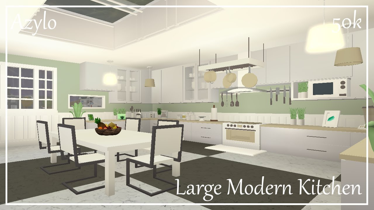 Roblox Bloxburg Large Modern Kitchen 50k YouTube