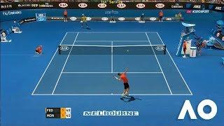 Tennis Elbow 2013 GAMEPLAY - AO  2018 - Roger Federer vs Gael Monfils