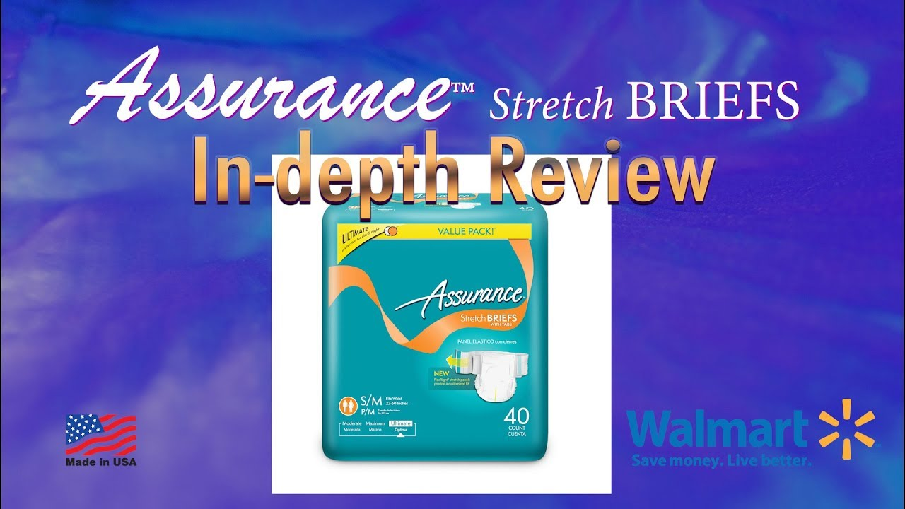 Assurance™ Stretch Brief Adult Diaper In-Depth Review #Incontinence  #adultdiaper
