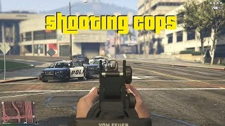 GTA 5 - First Person Shooting and Killing Cops