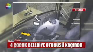 4 çocuk belediye otobüsü kaçırdı!
