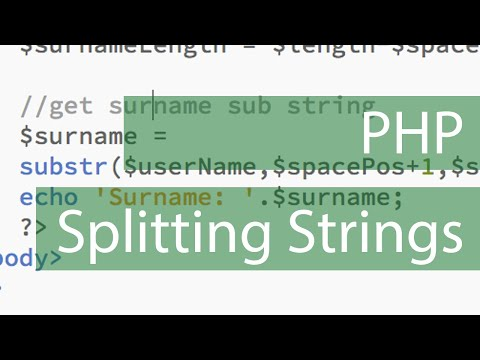 php parsing a name to forename / surname