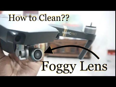 how to clean the foggy drone lens DJI MAVIC PRO