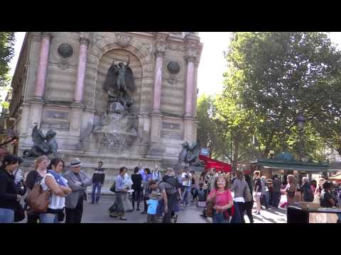Paris Saint Michel Fountain Pianist 9-15-2012