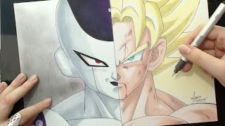 Speed Drawing - Freeza | Goku (Dragon Ball Z)