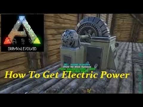 Beautiful Ark Survival Evolved  How To Get Electric Power   YouTube