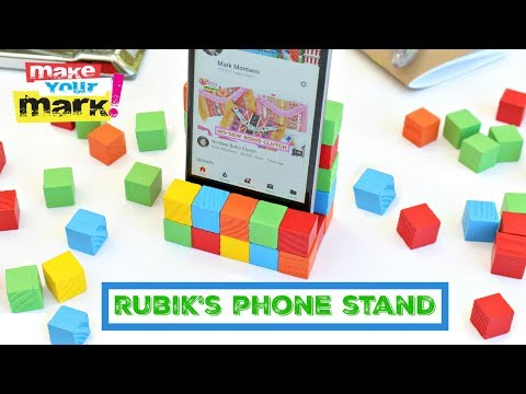 Rubik's Inspired Cell Phone Stand DIY