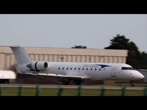 Elite Airways CRJ-200 Landing at Oakland County Airport | N96EA | HD Video