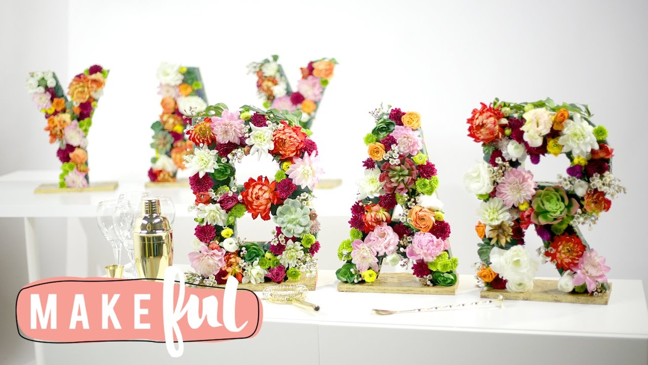 Easy Chic Floral Letter Diy Youtube