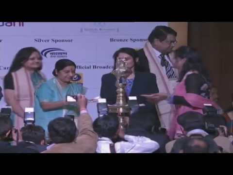 Inauguration - Youth Pravasi Bharatiya Divas 2015 by Sushma Swaraj,  Minister of External Affairs