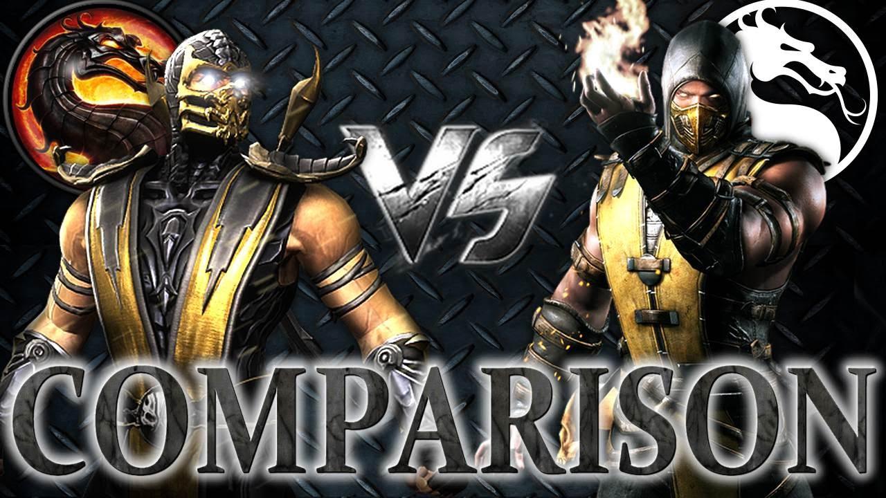 Mortal Kombat X VS MK9: Scorpion - Comparison! Face to Face! Intro ...