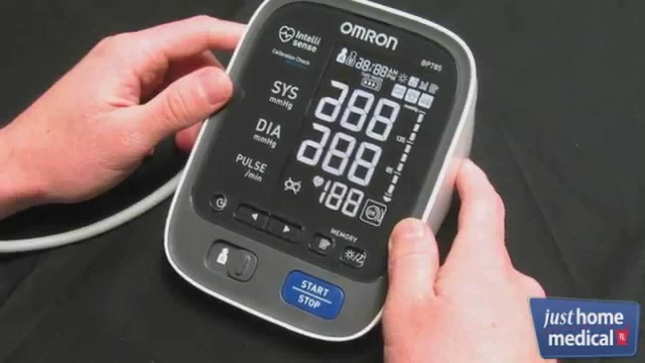 Just Home Medical Omron 10 Series Upper Arm Blood Pressure Monitor