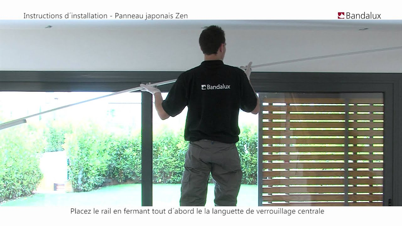 bandalux video installation panneau japonais zen
