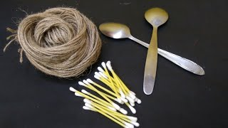 New idea for ur home decor ll Jute craft l DIY