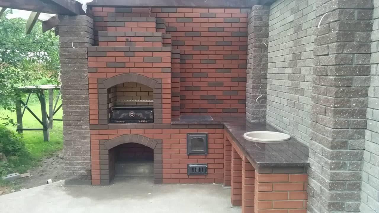Готовые бетонные угловые барбекю marta mt-2450 black электрокамин
