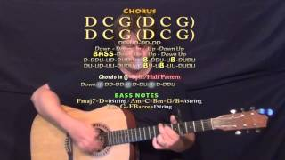 Smoke Break (Carrie Underwood) Guitar Lesson Chord Chart - Capo 4th