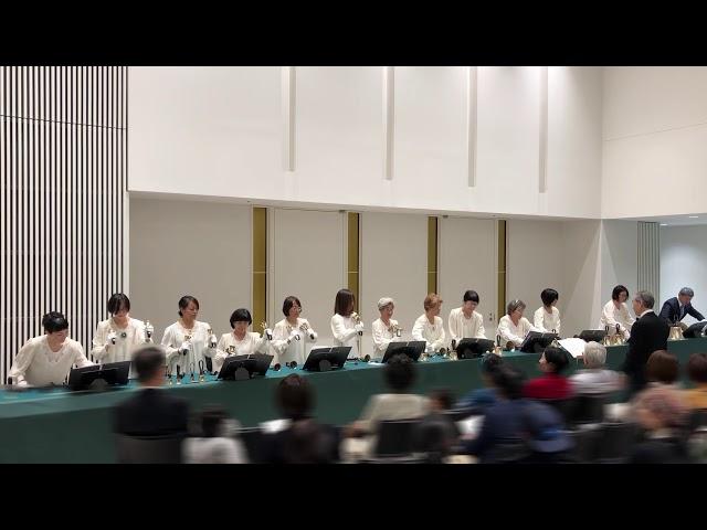 """ハンドベルHandbell, """"Tarantella"""", Kobe YMCA Bell-choir, 2019 Dec"""